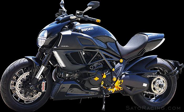 Performance Car Parts >> SATO RACING | Frame Sliders - Ducati Diavel
